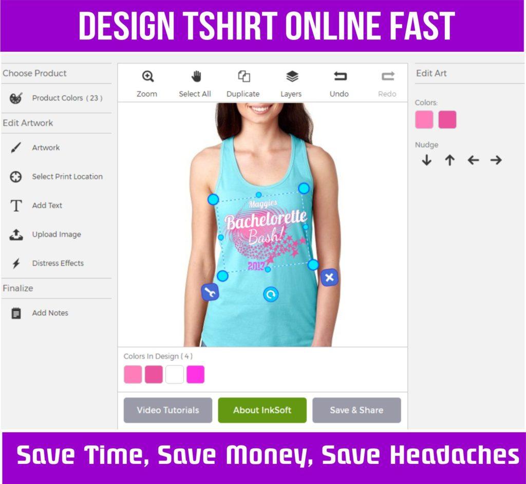 Design tshirt online fast