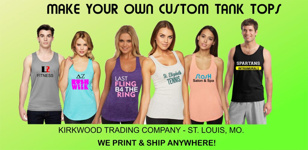 custom printed tank tops