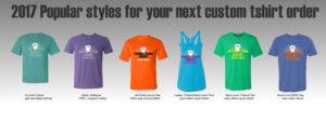2017 popular styles for your custom tshirts