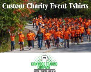 Charity walk event tshirts