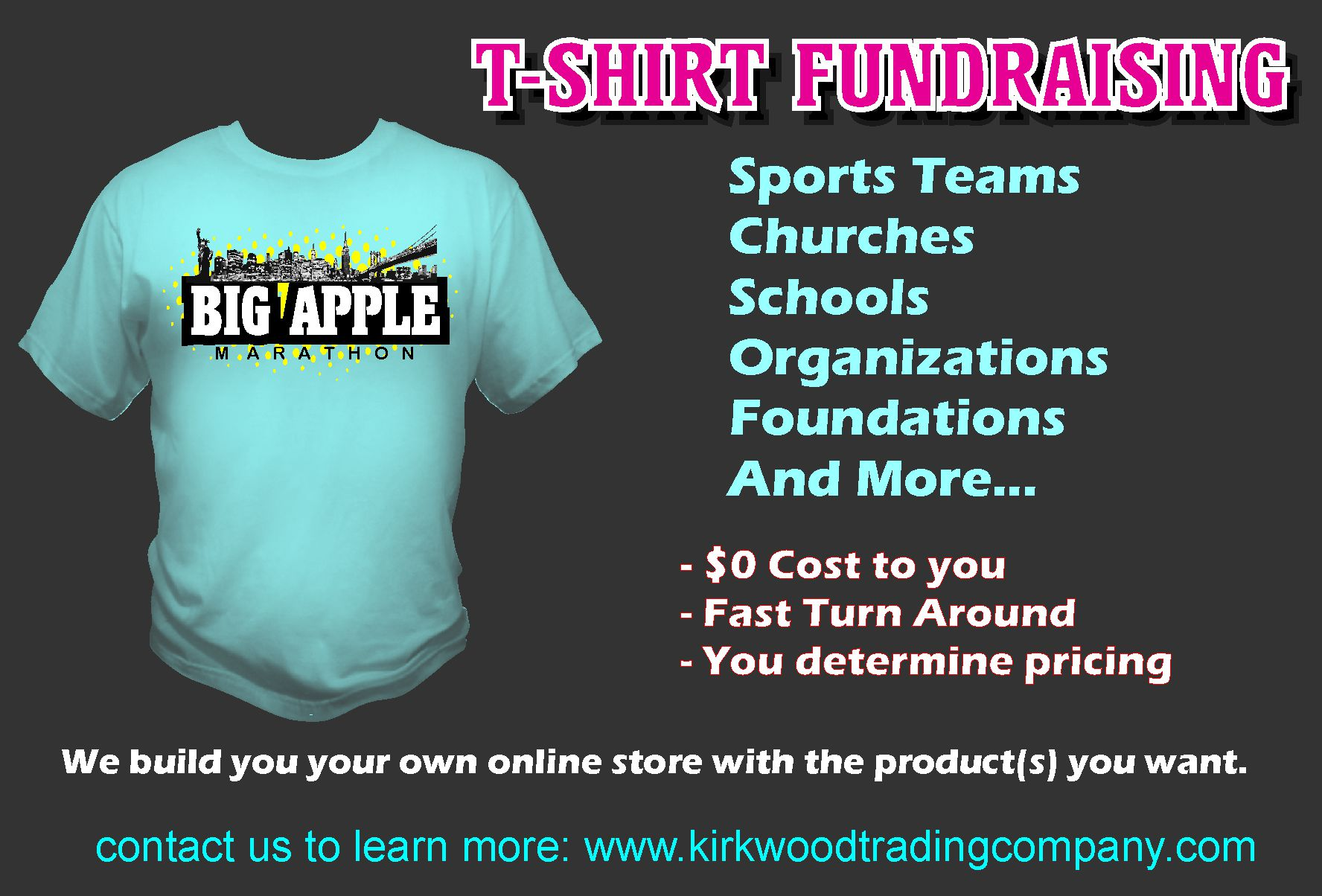T shirt fundraising kirkwood trading company for Rainforest t shirt fundraiser