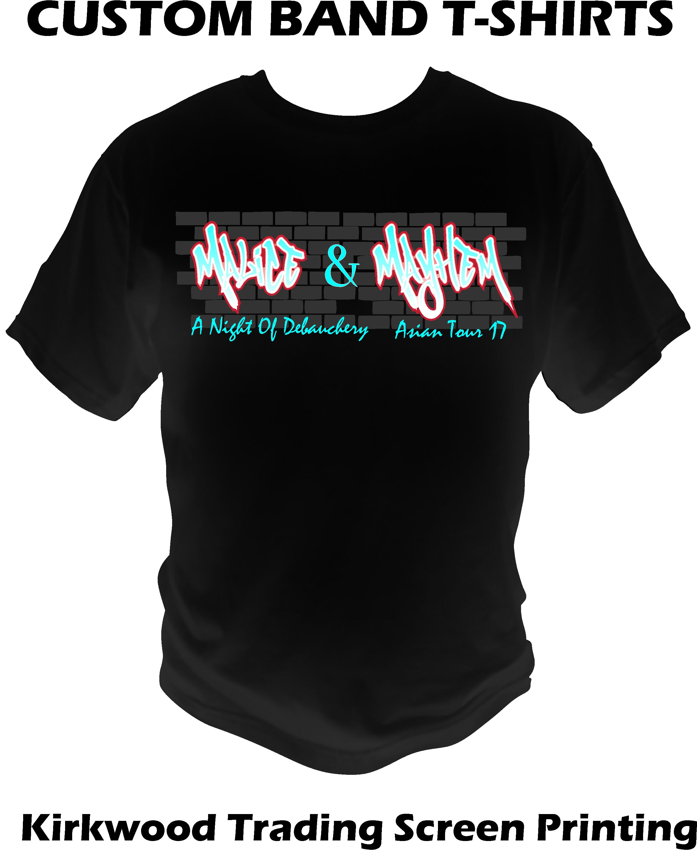 Custom band t shirts kirkwood trading company for Custom t shirt company