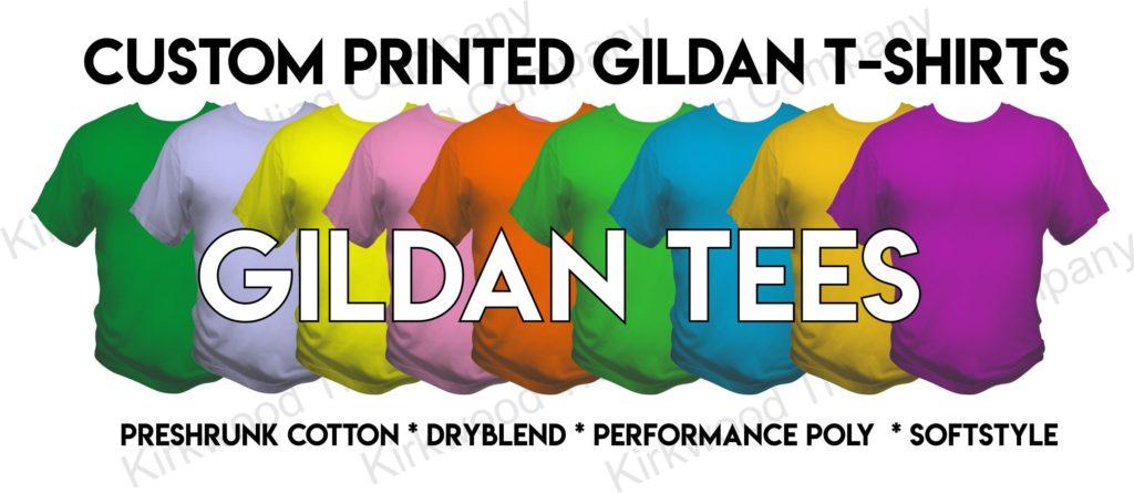 Custom printed Gildan T-shirts