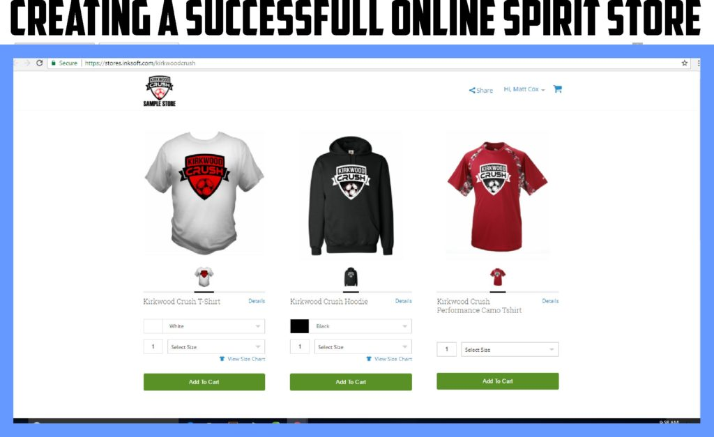 Creating a successful online spirit store kirkwood for Custom t shirt shop online