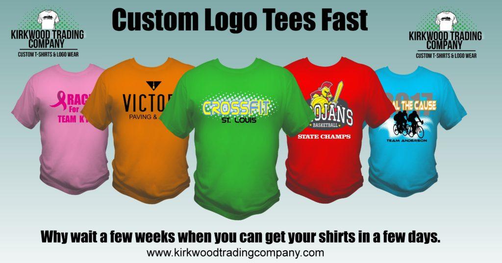 custom logo tees fast