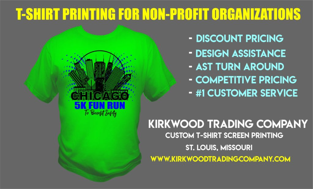 t-shirt printing for non-profit organizations