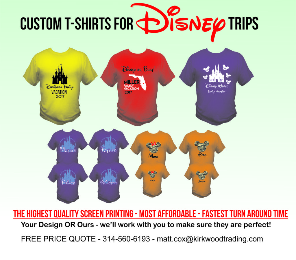 custom disney vacation t-shirts