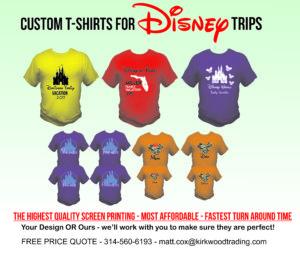 custom disney vacation t-shirts