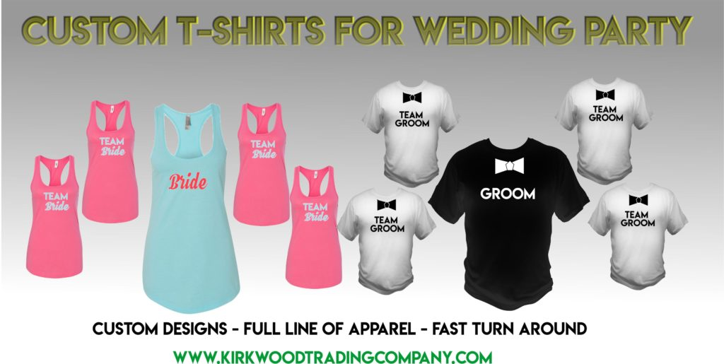 15334313946b5 Custom t-shirts for wedding party -