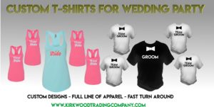 custom t-shirts for wedding party