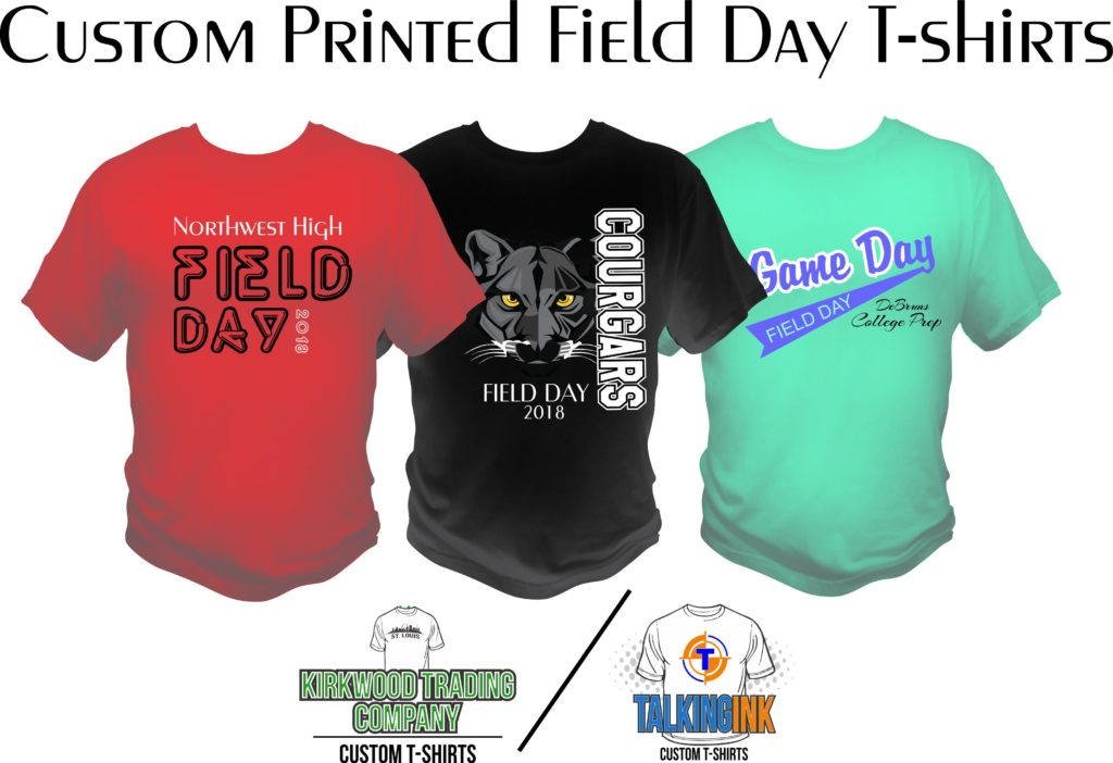 custom printed field day T-shirts