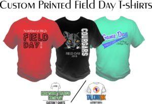 custom printed field day T-shirts