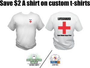 Save $2 a shirt on custom t-shirts