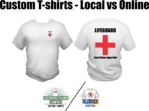 custom t-shirts local vs online