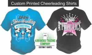 custom printed cheerleading shirts in St. Louis