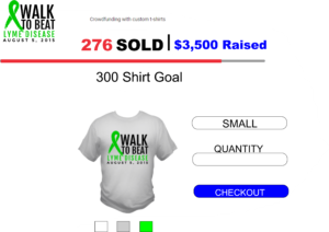crowdfunding with custom t-shirts store image
