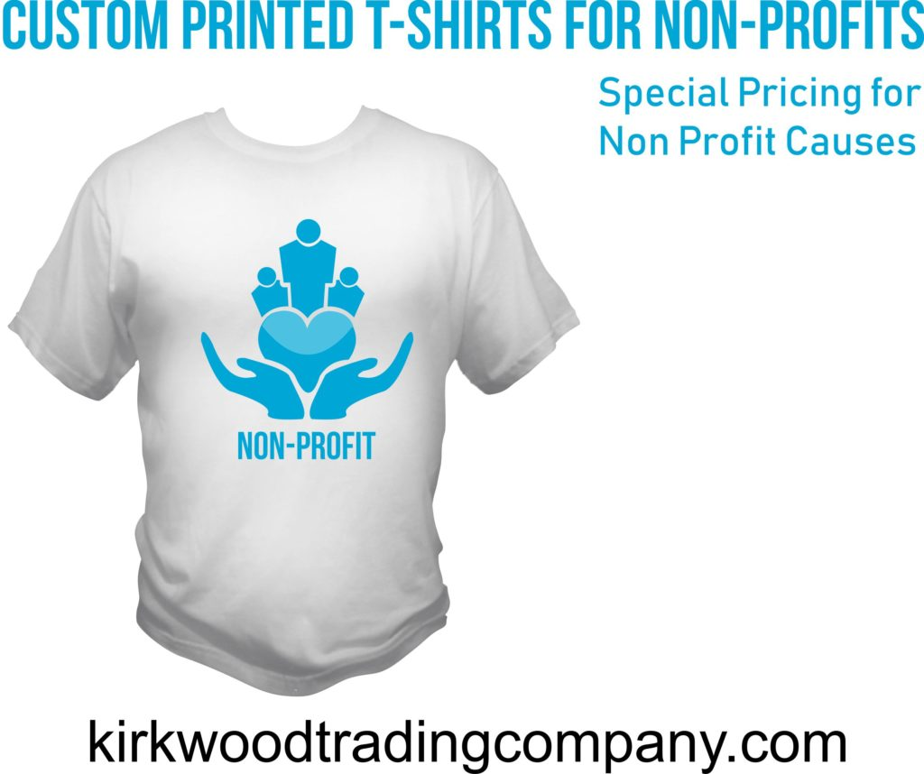 custom printed t-shirts for non-profits