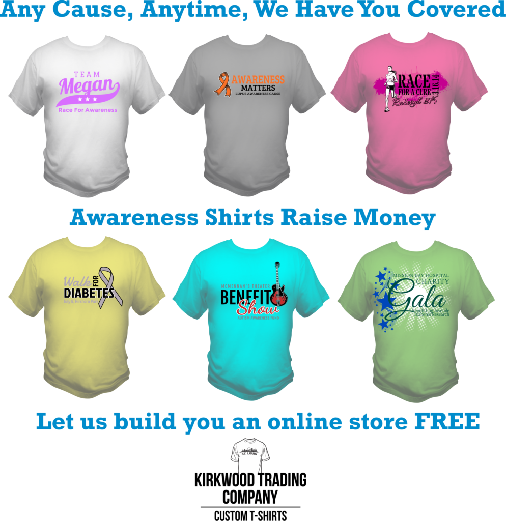 awareness t-shirts raise money