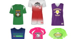 custom printed youth sports jerseys
