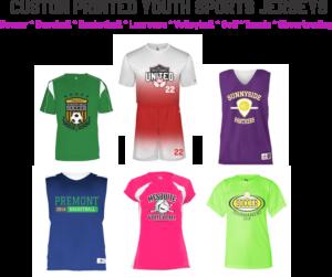 custom printed youth sports jerseys