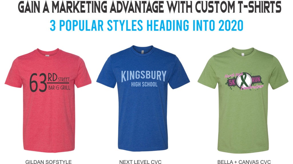 popular custom t-shirt styles for 2020