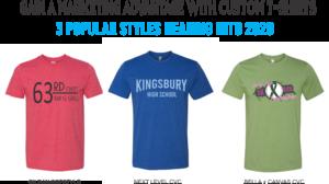 popular custom t-shirt styles for 2020