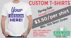 $3.50 custom t-shirts