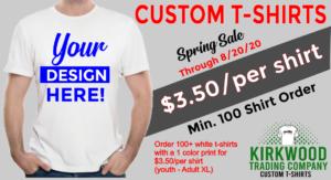 Kirkwood Trading Company 100 shirt promo