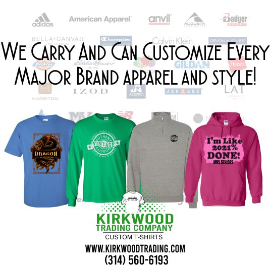 Kirkwood Trading Company Screen printing in St. Louis