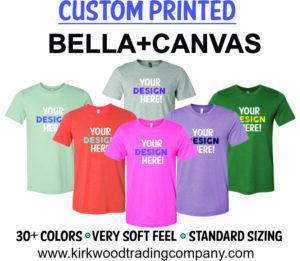 custom printed bella canvas tshirts