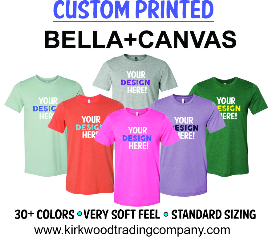 custom printed bella canvas tshirts